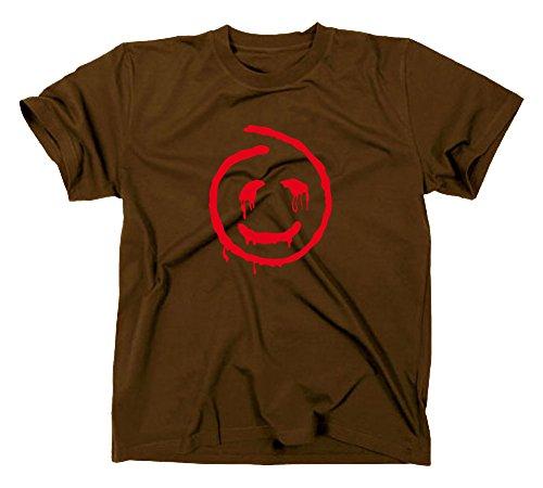 The Mentalist Fanshirt T-Shirt, Red John, TV Serie, braun, S