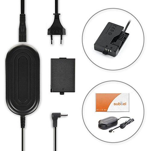 subtel® Qualitäts Netzteil kompatibel mit Canon EOS 1000D, 450D, 500D, EOS Rebel T1i, Rebel XS, Rebel Xsi (CA-PS700 + DR-E5) - ca. 3m, ACK-E5, 7.4V Stromadapter AC Adapter Netzadapter