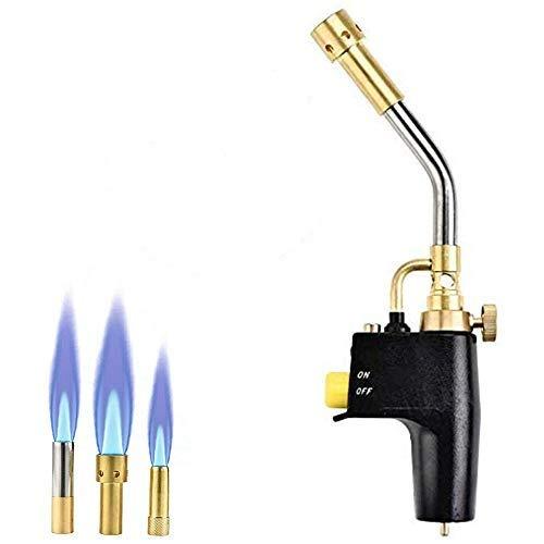 panthem Heat Propan Mapp Gasbrenner, 3 austauschbare Düsen, Mehrzweck-Trigger, hohe Intensität, zum Kochen, Anbraten von Steak