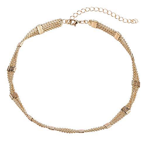 ZGRJIUERYI dames halsketting, modieuze halsdoeken, zijden stropdassen Europese en Amerikaanse mode mix en gouden halsketting vrouwelijke wilde ketting accessoires gepersonaliseerde kleding accessoires
