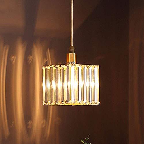 QIDOFAN - Lámpara de techo con lámpara de araña perfecta dorada, moderna, minimalista, para restaurante, bar, porche, salón, dormitorio, mesita de noche, pasillo o pasillo, luz cálida de 14 x 14 cm