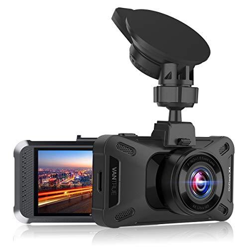VANTRUE X4 Dashcam 4K 2160P/30FPS, 1440P/60FPS, 24 Std. Parkmodus mit 160° Winkel, WDR Nachtsicht Dash Cam, 3 Zoll LCD Superkondensator Auto Kamera, Autokamera mit G Sensor, Zeitraffer, Max. 256GB