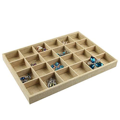 Yodio Joyero Joyero 12 celdas bandeja de almacenamiento bandeja de almacenamiento caja de joyería organizador caja de joyería organizador para aretes brazalete pulsera collar y anillos almacenamiento