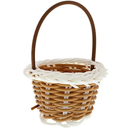 Mini cestas tejidas con asas para regalos de fiesta, manualidades, decoración (2.2...