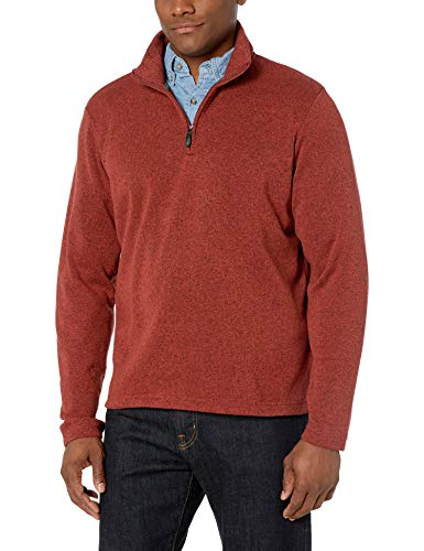 Wrangler Authentics Men's Sweater Fleece Quarter-Zip, Bossa Nova, Large