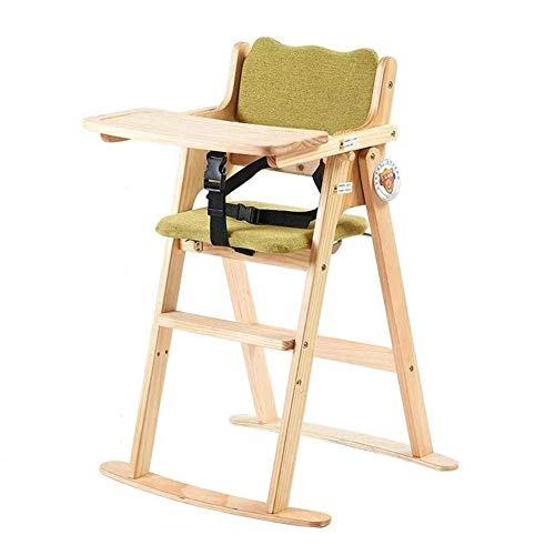 WWW-DENG barkruk voor babykamer, babystoel, eettafel, van massief hout, draagbaar, verstelbaar, voor kinderen, multifunctionele stoelen (kleur: blauw, maat: breed), barkruk