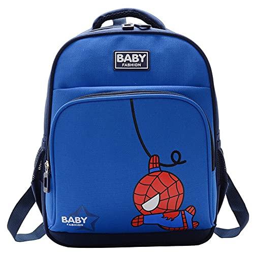 FoscaKo Spiderman Mochilas para niños, mochilas para guardería, escuela primaria, mochila de gran capacidad, niños de 3 a 6 años., turquesa, talla unica