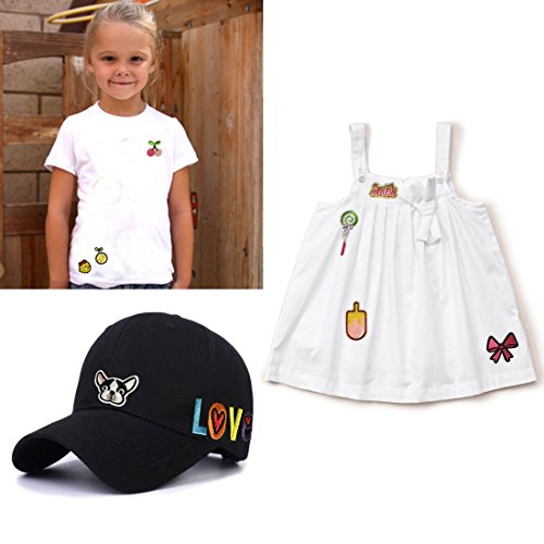Iron On Patches Embroidered Appliques DIY Decoration or Repair,Sew On Patches for Clothing Backpacks Jeans Caps Shoes etc (Cute Styles)