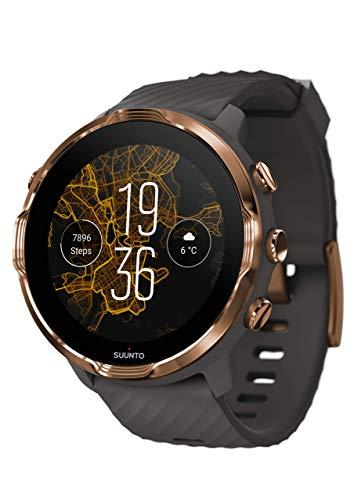 Suunto 7, GPS Sport Smartwatch with Wear OS by Google - Graphite/Copper (Renewed)