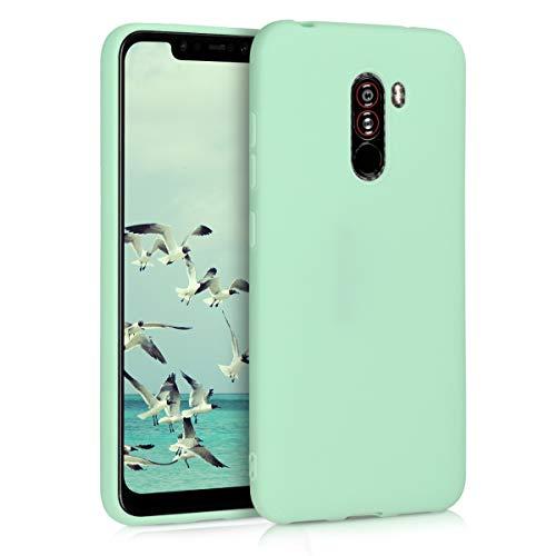 kwmobile Carcasa para Xiaomi Pocophone F1 - Funda para móvil en TPU Silicona - Protector Trasero en Menta Mate