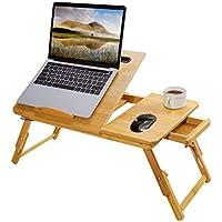 DELAM Bed Tray Multi Tasking Bamboo Laptop Desk