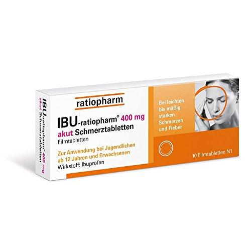 IBU-ratiopharm 400 mg akut Schmerztabletten, 10 St