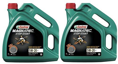 Castrol Magnatec Start-Stop 5W-20 E Synthetische Motorolie, 8 liter