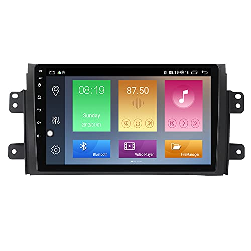 Amimilili Android Radio de Coche Radio GPS Navigation para Suzuki SX4 2006-2014 Bluetooth/GPS/FM/USB, Apoyo De Control del Volante, Enlace De Espejo/cámara Trasera,M600 6+128g