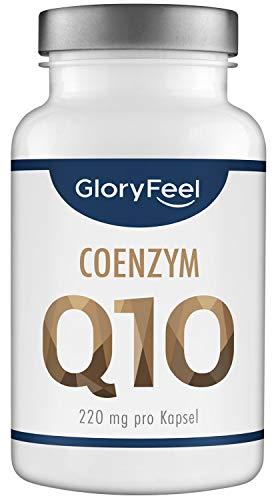 GloryFeel® Coenzym Q10 220mg pro Kapsel - Der VERGLEICHSSIEGER 2019* - 120 vegane Kapseln - Premium Q10 Ubichinon aus pflanzlicher Fermentation - Laborgeprüft hergestellt in Deutschland