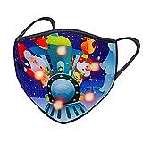 Alueeu LED Mundschutz Weihnachten Erwachsene Stoff: Halstuch mit LED-Licht 3D Druck Bandana Maske Multifunktionstuch mit Motiv Mehrweg Atmungsaktiv Mund und Nasenschutz Damen Herren
