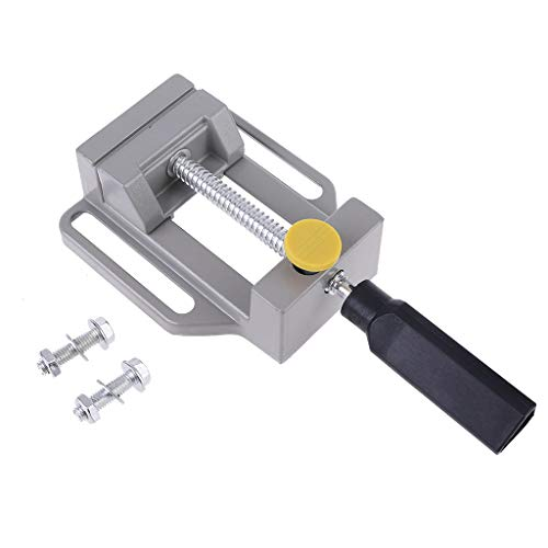 Aluminiumguss Mini 60mm Bohrmaschine Schraubstock Einstellbare Schraubstock Holzbearbeitung Bohrer Spannwerkzeug Backenöffnung Fräsmaschine Werkbank von Yintiod