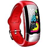 LITINGT & reg;Pulsera de Fitness con frecuencia cardíaca, IP67, rastreador de Actividad a Prueba de Agua con podómetro, Monitor de sueño, Contador de calorías, para niños, Mujeres, Hombres, Rojo