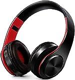 XUERUIGANG Auriculares de cancelación de Ruido Auriculares Bluetooth con micrófono Auriculares inalámbricos de Graves Profundos sobre Oreja, táctiles de proteínas cómodas, para Viajes/Trabajo (Negro