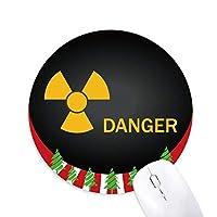 ロゴ放射性物質警告 円形滑りゴムのマウスパッドクリスマス飾り