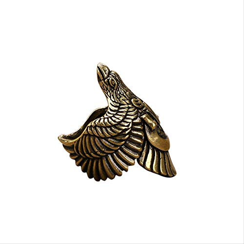 LBSST Vintage Schmuck Messing Mode Überhebliche Eagle Wings Ring Herren Persönlichkeit Eagle Open Zeigefinger Ring