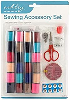Sewing Kit 24 x Cotton + Needles Buttons Tape Measure Safety Pins 71 Piece