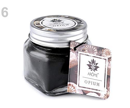 1stück (opium) Dunkelgrün Kleine Duftkerze Im Glas Mit Namensschild, Kerzen Und Kerzenhalter, Kerzen, Leuchter, Dekoration