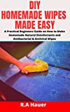 DIY HOMEMADE WIPES MADE EASY: A Practical Beginners Guide on How to Make Homemade Natural Disinfectants and Antibacterial & Antiviral Wipes (English Edition)
