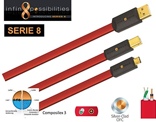 WIREWORLD STARLIGHT 8 USB 2.0 A-B FLAT CABLE 1M