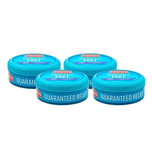 O'Keeffe Healthy Feet Cream 3.2oz Jar, 4 Pack by OKEEFFE'S