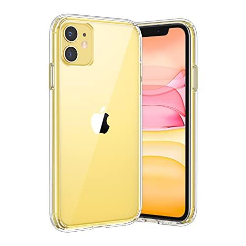 UNBREAKcable Kompatibel mit iPhone 11 Hülle - Crystal Clear [Anti-Gelb & Kratzfest] Handyhülle iPhone 11, Hartplastik Rückseite & Weich Silikon Bumper Case Durchsichtig Schutzhülle - Transparent