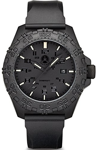 Praetorian SOCOM Phantom - Silikon Armband - 20 Bar - Trigalight Sekundenzeiger - H3 Tritium Uhr