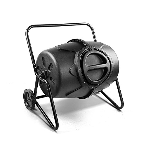 WORTH GARDEN 堆肥コンポスター 家庭菜園 有機肥料 落ち葉処理 (190L回転式)