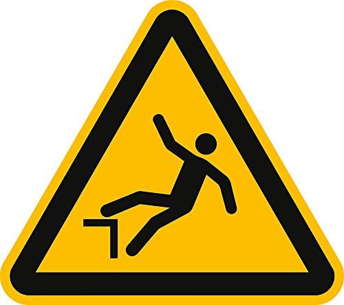Schild Warnung vor Absturzgefahr 20cm sl Alu gemäß ISO 7010, W008