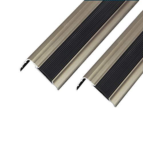KDOAE Nariz Antideslizante de Escalera S Escalera de Aluminio de 90 cm de Longitud sin 42x27 para escaleras laminadas de Madera Perfil de protección de Borde 3 PCS Adecuado para Escaleras