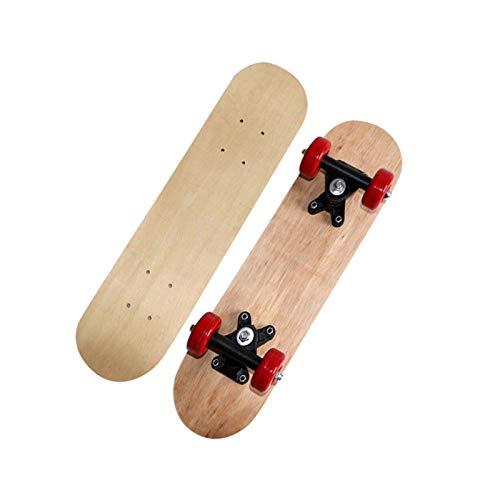 mrjg Longboard Niños Principiantes Patinaje de Peces DIY Graffiti Mini Tablero Outdoor Sport Street Board Skateboards Freehand Patinar for niños niñas Adulto (Color : Brown)