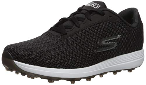 Skechers Damen Golf Shoe Max, Golfschuh, Black/White Textile, 42 EU