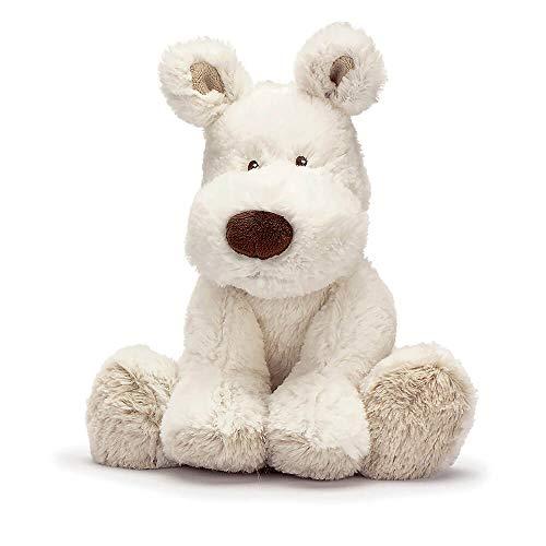 """Teddykompaniet 2089 Kluscheltier Plüschhund """"Teddy Cream"""" weiß 30 cm – Plüschtier für Babys - Stofftier - super soft - ab Geburt"""