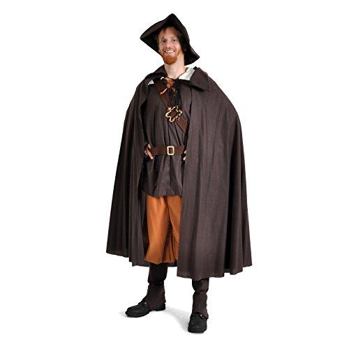 Elbenwald Abenteurer Herren Kostüm Mittelalter/LARP Gewand, Romeo, mit Hut u. Umhang NEU - M