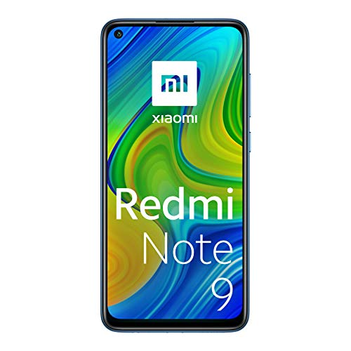 Xiaomi Redmi Note 9 -Smartphone + Cuffie 6.53' FHD+ DotDisplay (3GB RAM, 64GB ROM, Quad Camera , 5020mah Batteria, NFC) 2020 [Versione Italiana] - Colore Midnight Grey