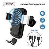 licheers Wireless Car Charger Mount, Wireless Car Charger Phone Holder...