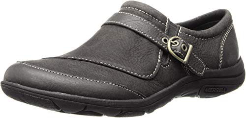 Merrell womens Dassie Buckle Slip-On Shoe Black 6 M US