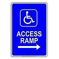 矢印車いすの方向標識金属標識通知記号とハンディキャップアクセス可能なランプのエントリ