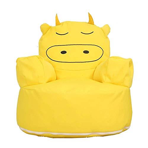 WYZQ Marshmallow Furniture Children's Single Sofa Bean Bag Kindergarten Children's Furniture Baby Small Sofa (Brown,60 * 60 * 63cm) (Yellow,60 * 60 * 63cm),Furniture