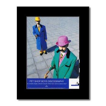 Music Ad World Pet Shop Boys Mini-Poster, Discographie, matt, 28,5 x 21 cm