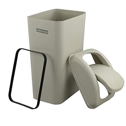 Ucake 10 l Abfalleimer Kosmetikeimer Abfallbehälter Abfallsammler Müllbehälter Kunststoff Plastik, 1 Packung