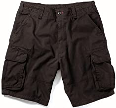 Black Vintage Paratrooper Cargo Shorts