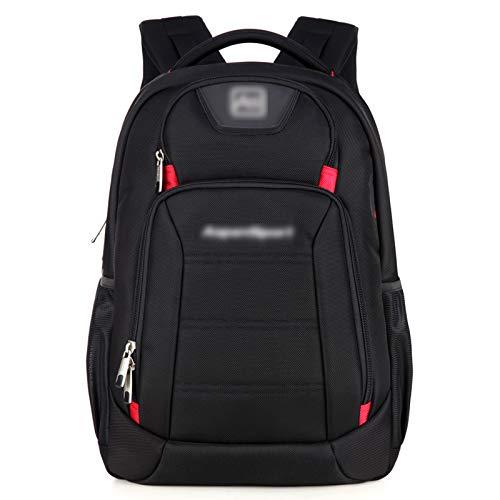 QYUU Large-capacity Student School Bag, Men's Shoulder Rucksack, Female Travel Hiking Backpack, High School Junior High School Student Computer Bag Waterproof C