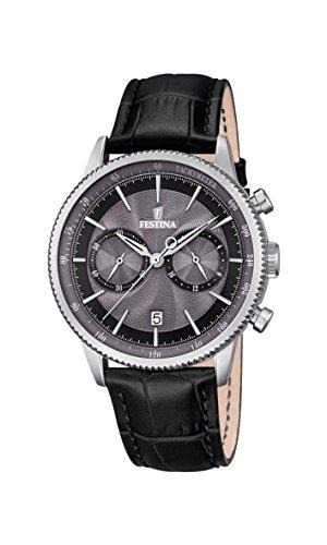 Festina Herren-Armbanduhr Analog Quarz Leder F16893/5