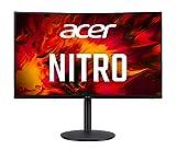 Acer Nitro XZ320QXbmiiphx Monitor Gaming Curvo 31.5', Display VA Full HD, 240 Hz, 1 ms, 16:9, AdaptiveSync, HDMI 2.0, DP 1.2, Speaker Integrati, ZeroFrame, Regolazione in Altezza, Cavo HDMI Incluso